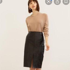 Modern Citizen Arielle Vegan Leather Skirt NWOT